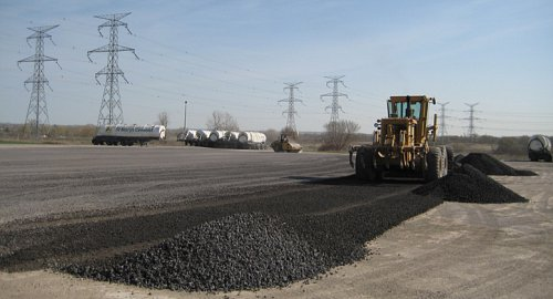 As Metal Slag Driveway : Crushed rock limestone gravel alternative